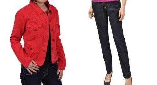 Jacheta si pantalon jeans de la miniPRIX