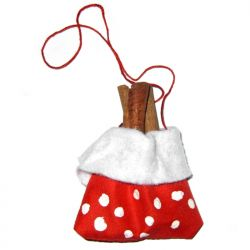Ornament brad saculet cu scortisoara