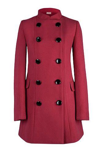 Palton rosu matlasat military. CLICK pe poza pentru a cumpara!
