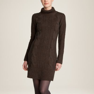 Rochie tricotata cu torsade