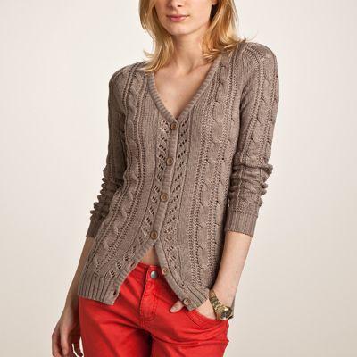Cardigan pentru femei tricotat cu torsade