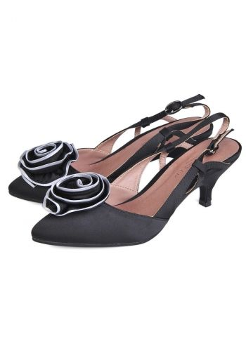 Paula Soler, Deborah Black Slingback Shoes