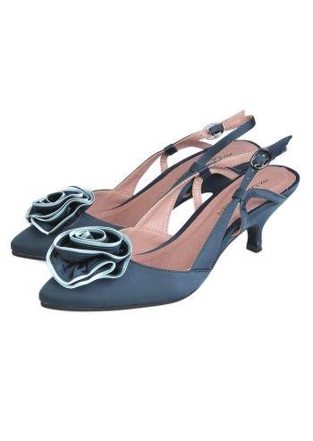 Paula Soler, Deborah Blue Petrol Slingback Shoes