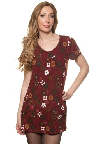 Ada Gatti, Floral Dream Wine Red Dress