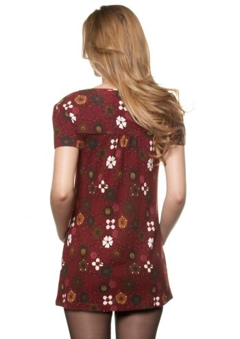 Ada Gatti, Floral Dream Wine Red Dress - poza 2