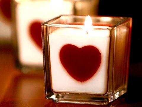 Lumanari si suporturi pentru Sf. Valentin