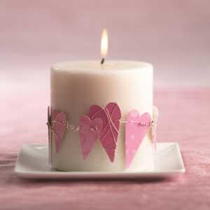 Idei de decorare cu lumanari de Sf. Valentin