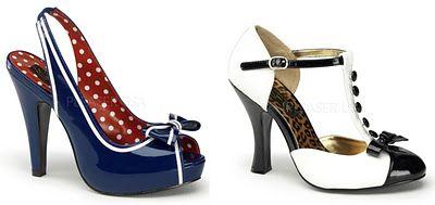 Pantofi stil pin-up