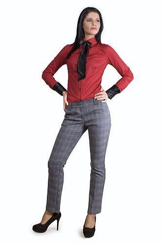Pantaloni din stofa in carouri