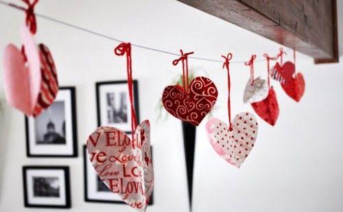 Ghirlande simple dar frumoase pentru Sf. Valentin