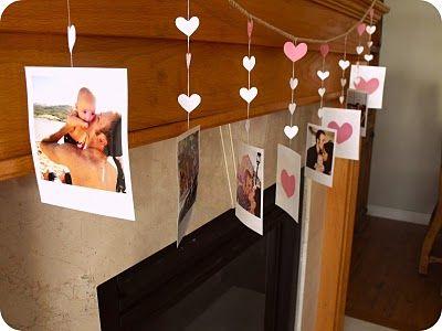 Ghirlanda cu inimi si poze pentru Sf. Valentin