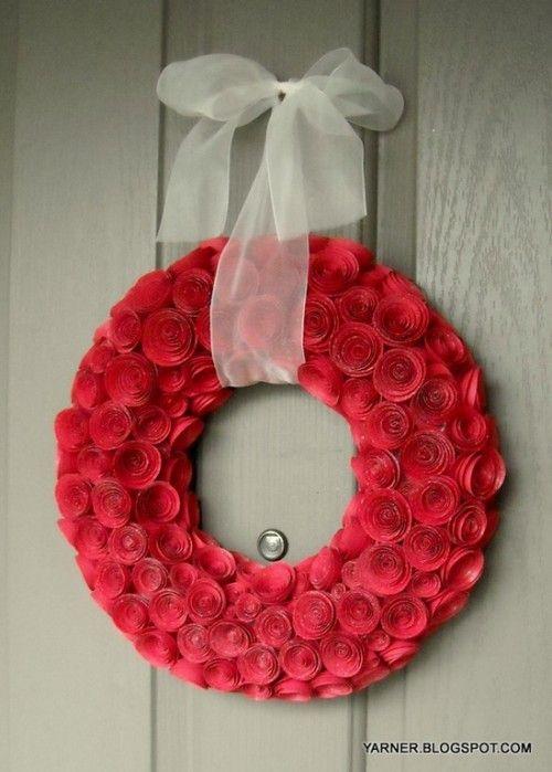 DIY - Coronita de trandafiri de hartie