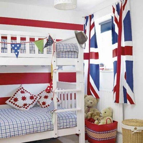 Decorare cu steaguri in camera de copii