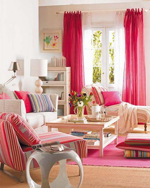 Decorarea casei in culori vii folosind tesaturi
