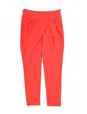 Pantaloni TINAR in culoare tangerine tango
