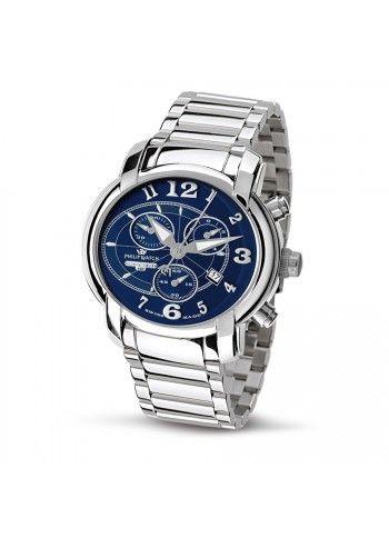 Philip Watch, Ceas Unisex Blue Chrono Anniversary