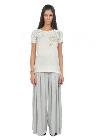 Alexander McQueen Puma, Woman Ivory White Fight Fish T-shirt