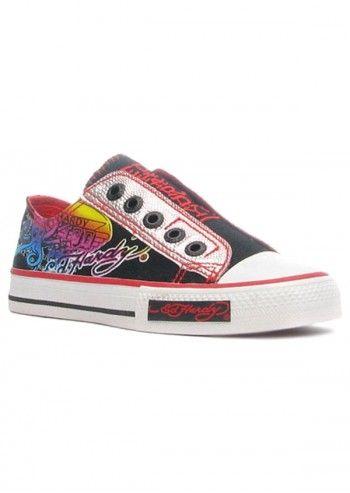 Ed Hardy, Kids Low Rise Aquarium Red Sneakers