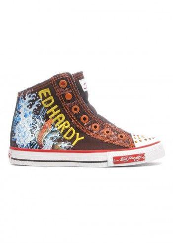 Ed Hardy, Kids Gleam Choco Boot Sneakers