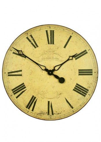 Roger Lascelles, Light Yellow Jean Pierre Renard Dial Wall Clock