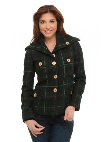 Trussardi Jeans, Piccadilly Checked Green Jacket