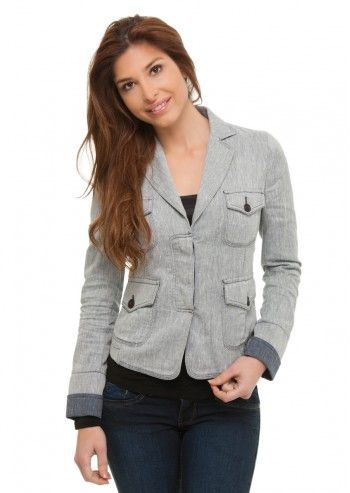 Trussardi Jeans, Stylish Simplicity Washed-Out Jacket