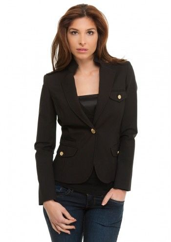 Trussardi Jeans, Beauty Regiment Black Jacket