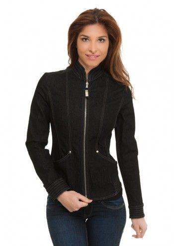 Trussardi Jeans, Rock On! Black Denim Jacket