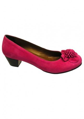 Riva, Sweet Surrender Fuchsia Suede Leather Shoes