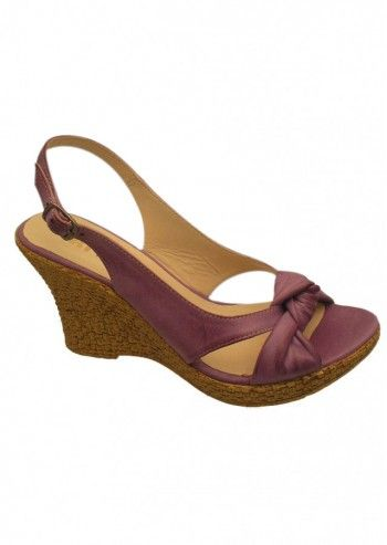Riva, Caley Lime Leather Wedge Sandals