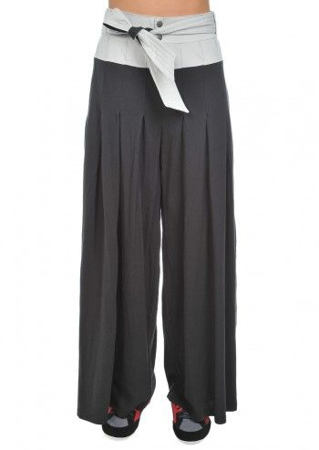 Alexander McQueen Puma, Woman Black&Ash Gray Pleated Pants