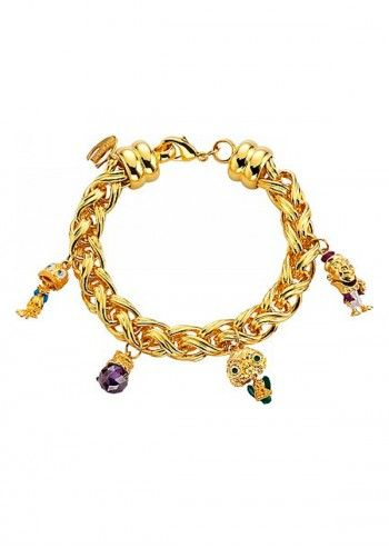 Just Cavalli, Woman Golden Charm Wide Bracelet