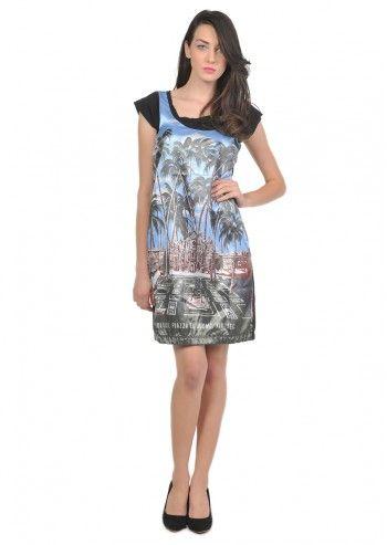 Love Moschino, Woman Tropical Black Dress