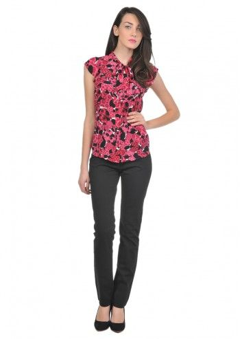 Love Moschino, Woman Black Skinny Pants and floral Top