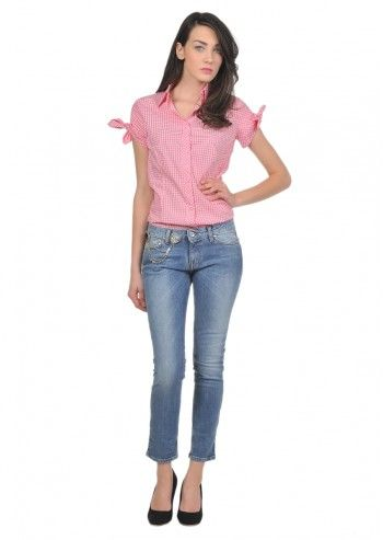 Love Moschino, Woman Bejeweled Blue Jeans