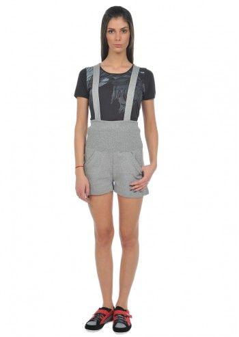Alexander McQueen Puma, Woman Melange Gray Anika Short Pants
