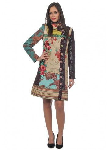 Desigual, Woman Luciole Multicolored Coat