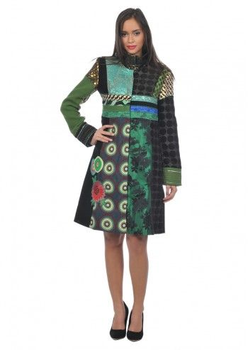 Desigual, Woman Greenline Coat