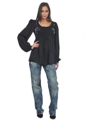 Desigual, Woman Barilett Black Blouse