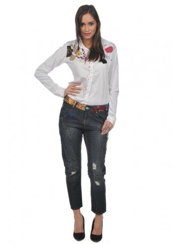 Desigual, Woman Magic Land White Shirt