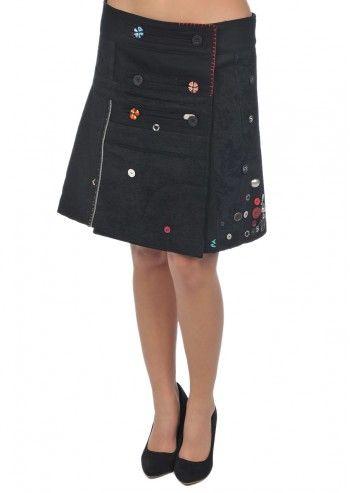 Desigual, Woman Little Black Skirt