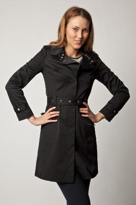 Trenci negru elegant, brand Eponge