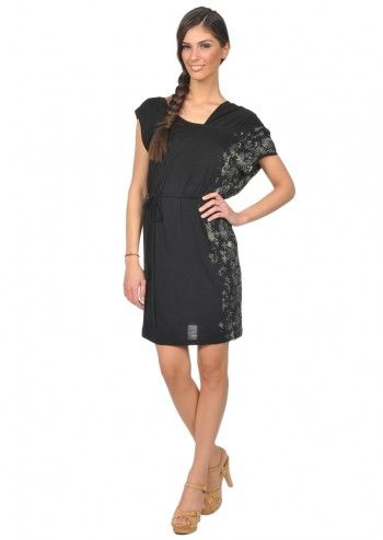 Diesel, Woman Diffin Black Asymmetric Dress
