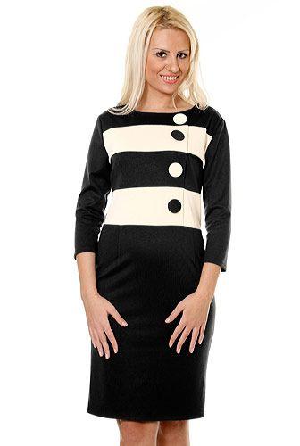Rochie negru cu alb