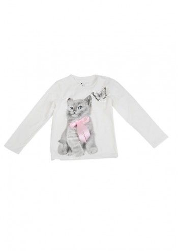Love Made Love, Girls Cat Ivory Blouse