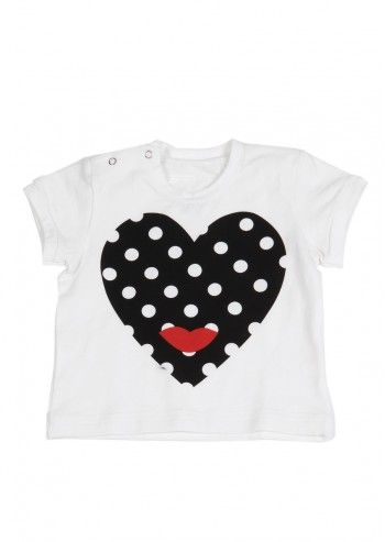 Love Made Love, Girls Doted Heart White T-shirt