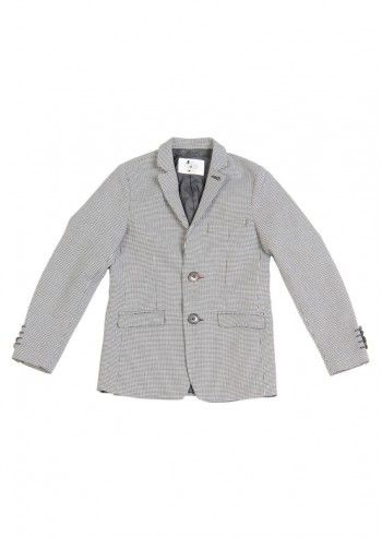 Love Made Love, Boys Black&White Houndstooth Blazer