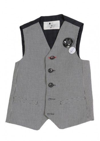 Love Made Love, Boys Black&White Houndstooth Vest