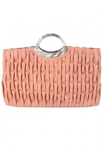 Abbacino, Crinkled Pale Pink Handbag