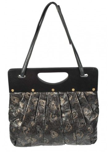 Abbacino, Cocktail Black Abstract Print Handbag